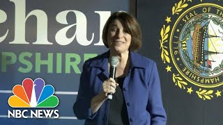Klobuchar Shuts Down Question On Women Candidates Being 'Unlikable' | NBC News