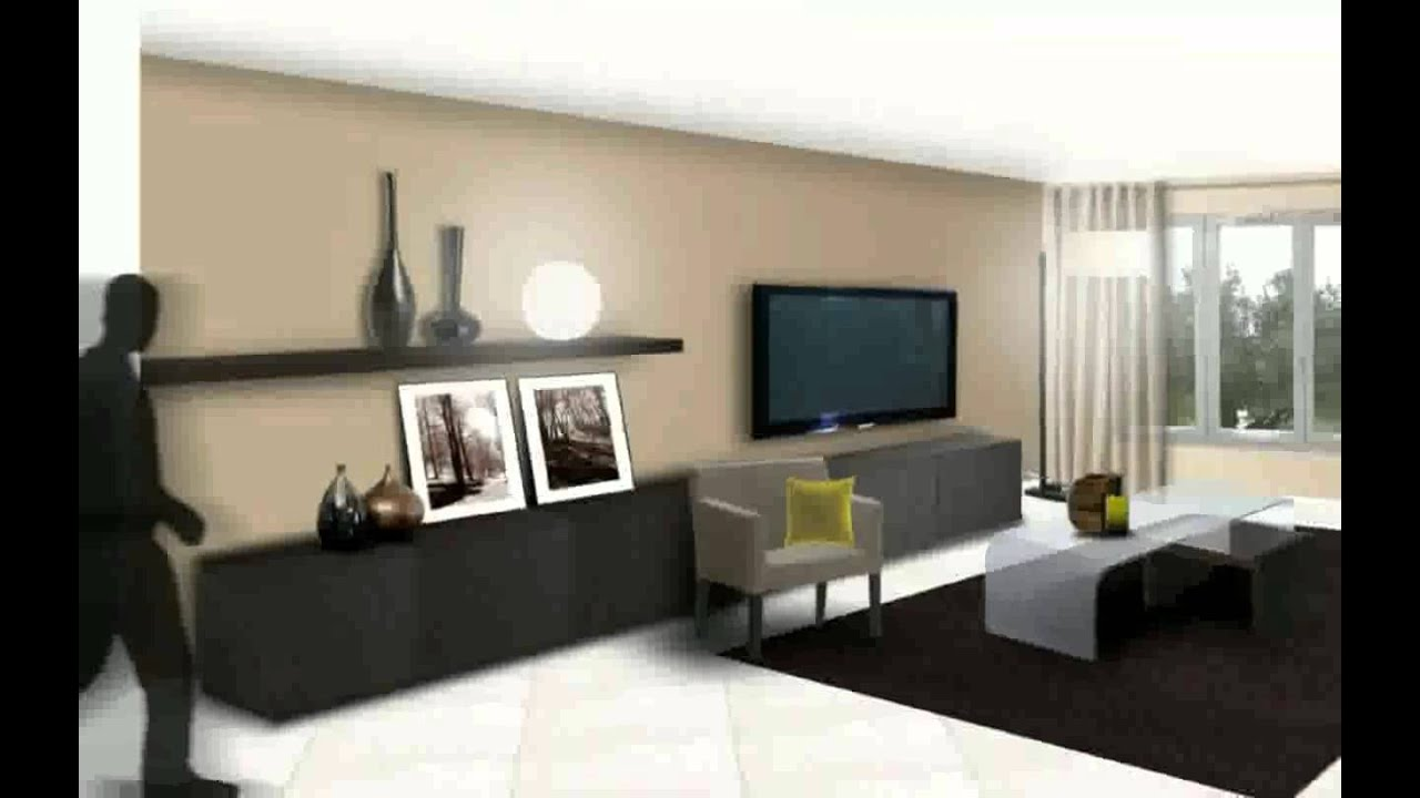 Salon moderne deco youtube - Interieur taupe beige ...