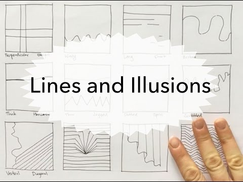 Line Practices and Line illusions - Drawing tutorial