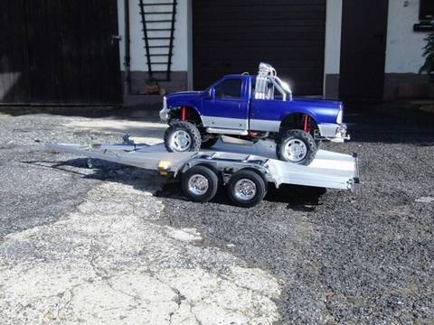 Outdoor driving with the RC Tamiya Ford F350 (MFU-02) and selfmade trailer