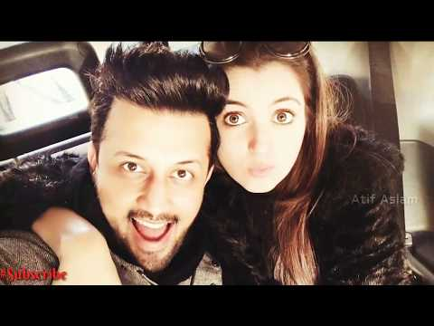 Atif Aslam with his wife Latest video