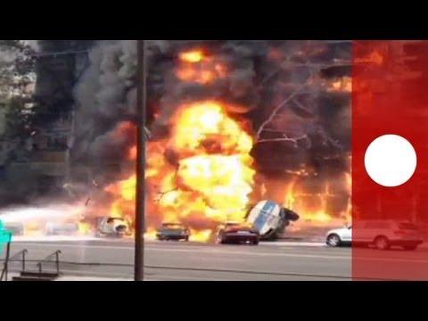Kazakhstan: un camion-citerne provoque un violent incendie