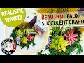 Succulent Wall Planter - Fake Succulents | Artificial Succulent Craft with Fake Moss | Hat Craft