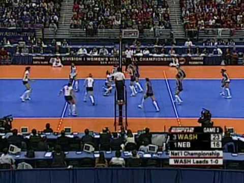Nebraska vs. Washington volleyball, 2005 NCAA National Championship highlights