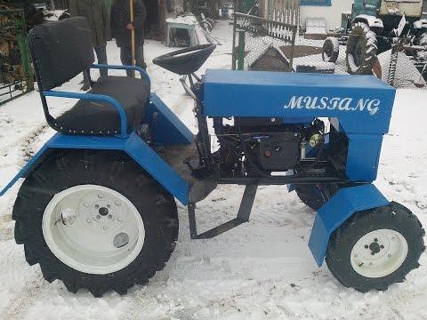 Минитрактор из мотоблока зубр. Трактор MUSTANG.