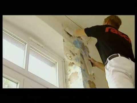 C mo colocar el papel pintado 4 doovi - Como empapelar paredes ...