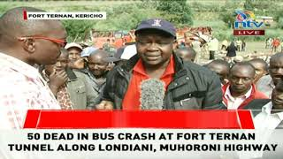 Former MP Magerer Lang'at reacts to the Fort Ternan accident