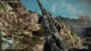 Battlefield: Bad Company 2 - Valparaso - Sniping (Helicopter Headshots)