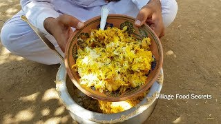 Chicken Dum Biryani | Hyderabadi Chicken Dum Biryani by Mubashir Saddique | Village Food Secrets