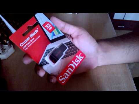 179) Sandisk Cruzer Blade 32 gb unboxing (amazon)
