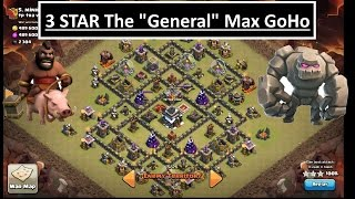 "Clash of Clans. 3 STAR MAX TH9. Popular ""General"" base. Shattered GoHo after update"