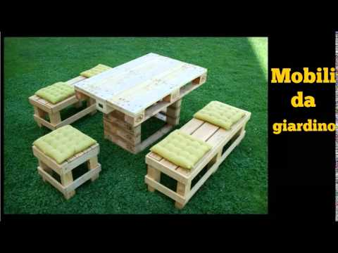 Realizzare Mobili Con Pallet : Ecoarredo pallets mobili da giardino youtube