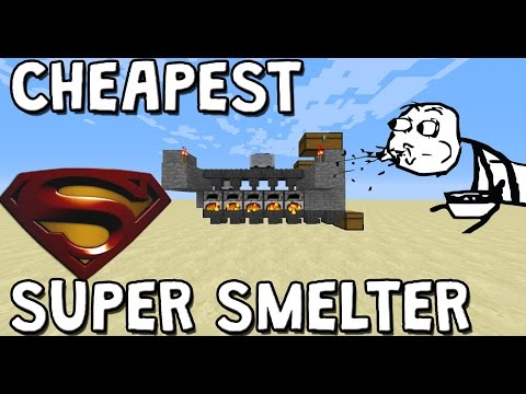 [1.11+] Simple CHEAP Super Smelter In Minecraft Tutorial [Works On Xbox, Playstation and PE]