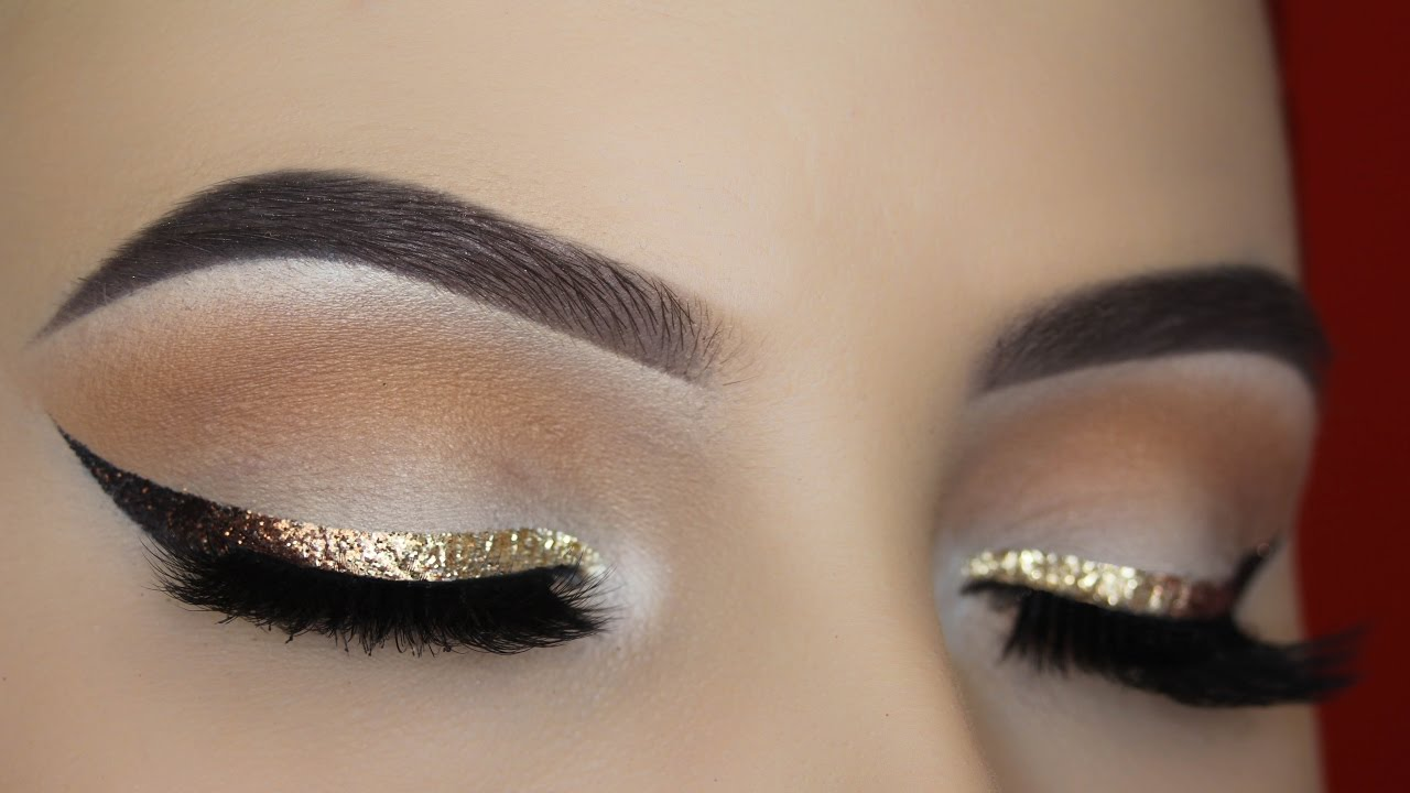 Gold Glitter Ombre Liner Makeup Tutorial