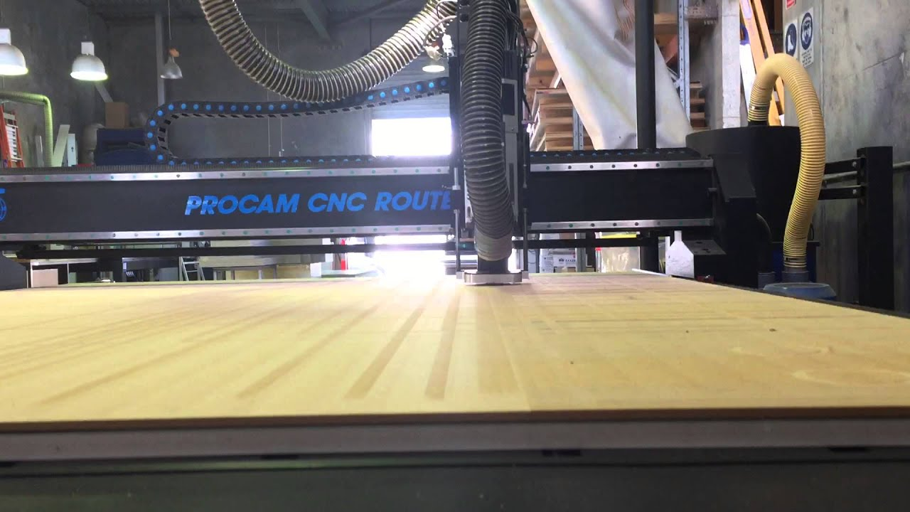 Procam CNC Router Video 1  YouTube
