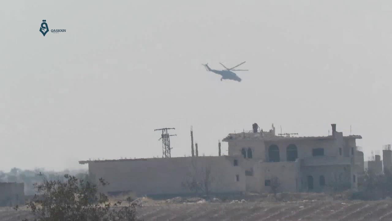 تحليق المروحيات الروسية على علو منخفض شمال حماة