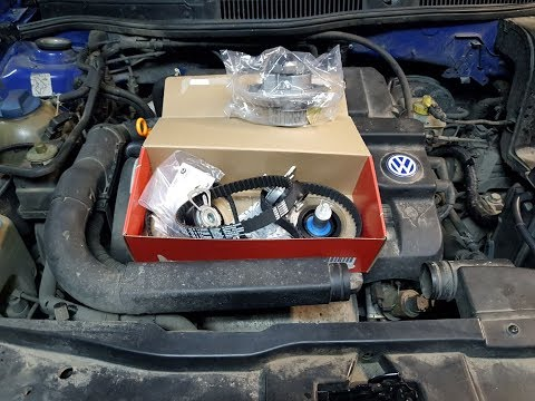Volkswagen Golf 4. Замена ремня ГРМ. Замена помпы. AXP. 1.4 v16
