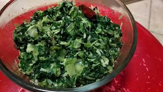 Palak keerai/Spinach Poriyal , Simple and easy recipe in Tamil - Malathy's Kitchen