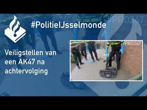 Politie #PRO247 - Veiligstellen van een AK47 na achtervolging