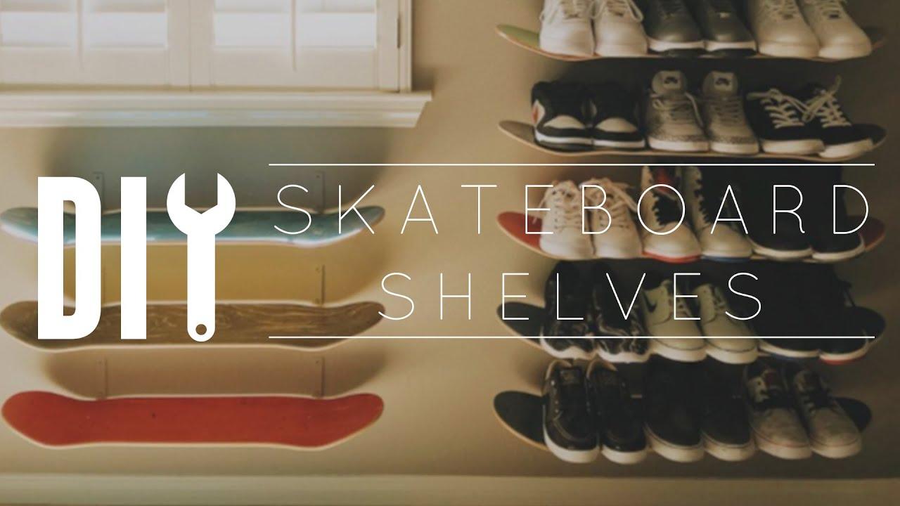 Diy Skateboard Wall Shelf Youtube