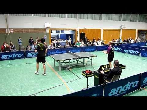 TT 2. BL. 30.01.2011: Roman Rosenberg vs. Christopher Doran (HD, 30:46 Min.) Tischtennis Bundesliga