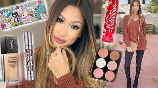 Thanksgiving Makeup & Outfit Idea! | Trying NEW Products
