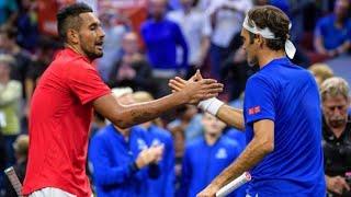 Nick Kyrgios vs Roger Federer Laver Cup 2018 ᴴᴰ