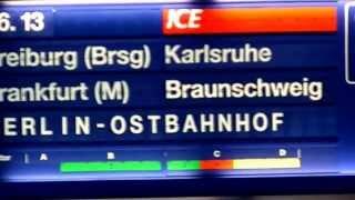 Inter City Express ICE Abfahrt Basel Schweiz nach Berlin Deutschland um 16:13 auf Gleis 11 .