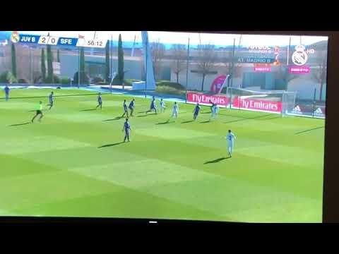 Real Madrid Juvenil B San Fernando. Gol de Christian Vassilakis