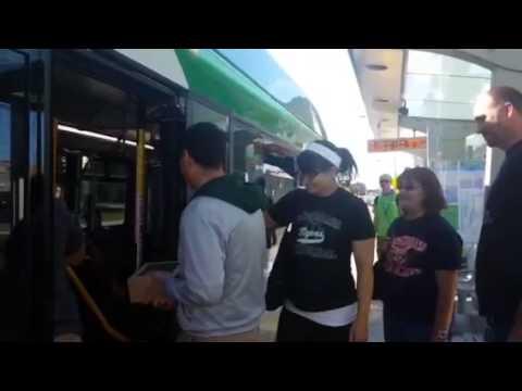Crossroads Alternative High School staff ride the Silver Line