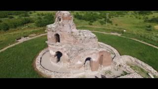 Червената църква, Перущица с дрон / Ancient Red Church, Perushtitsa, Bulgaria Aerial 4K video