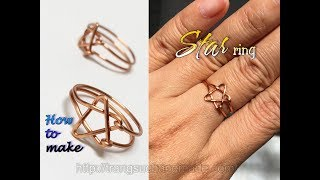Easy Star ring from copper wire -