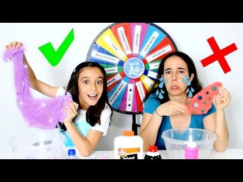 DESAFIO DA ROLETA MISTERIOSA DE SLIME! ★ Brincando com a Mamãe (Mystery Wheel Of Slime Challenge)