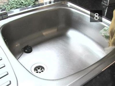 How To Make A Kitchen Sink Shiny And Clean - YouTube