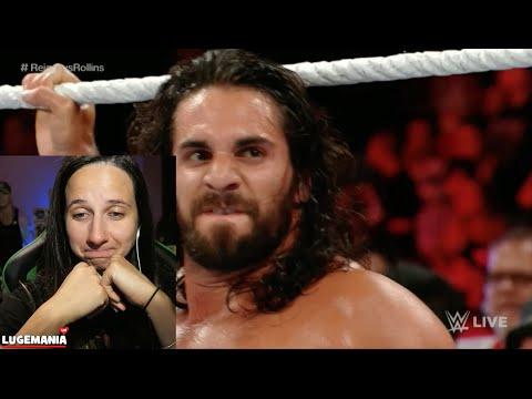 WWE Raw 6/20/16 Seth Rollins vs Roman Reigns