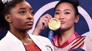 Suni Lee Wins Olympic GOLD as Simone Biles Cheers Her On