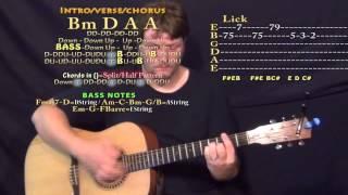 strip it down luke bryan guitar lesson chord chart in bm
