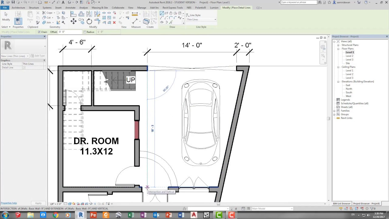 Create Elevation Plan In Revit : How to create basic floor plan in revit architecture youtube
