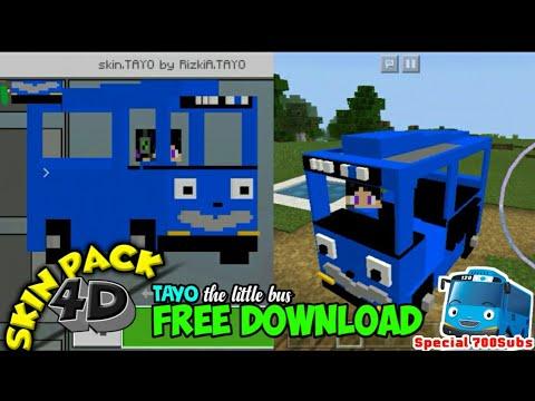 Skin 4d Tayo The Little Bus Minecraft Skin Youtube