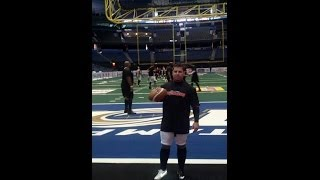 Brian Jackson Kicker | Arena Football League AFL Game | Orlando Predators March 29, 2014