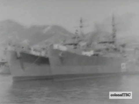 Japanese destroyers and other vessels in Kure Harbor - 16 October 1945