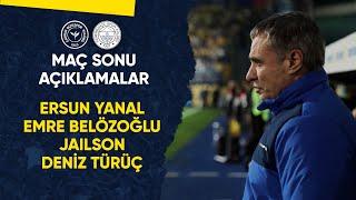 Maç Sonu Açıklamalar (Teknik Direktörümüz Ersun Yanal, Emre Belözoğlu, Jailson, Deniz Türüç)