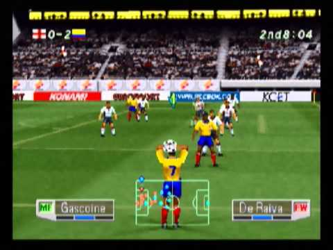 Colombia vs England - International Superstar Soccer Pro 98 (PS1)