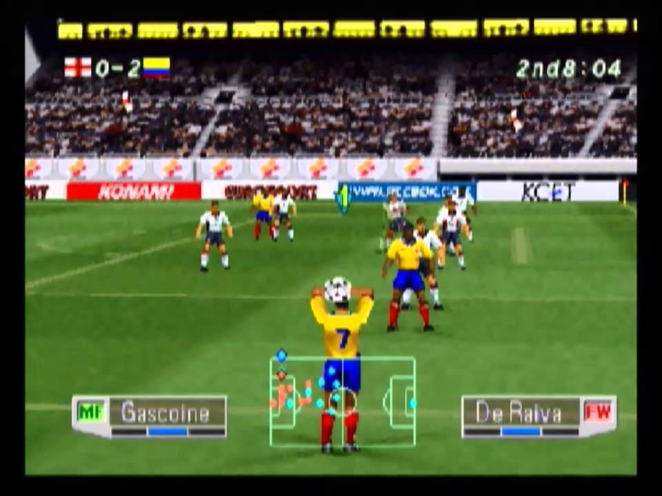 Colombia vs England - International Superstar Soccer Pro 98 (PS1) - YouTube