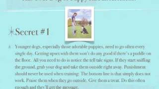 House Training Dogs - 3 SECRETS To Super Fast Obedience