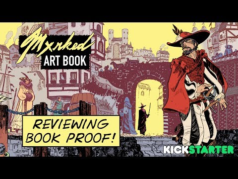 Reviewing The Book Proof From Printer For Art Book MXRKED • Kickstarter Update