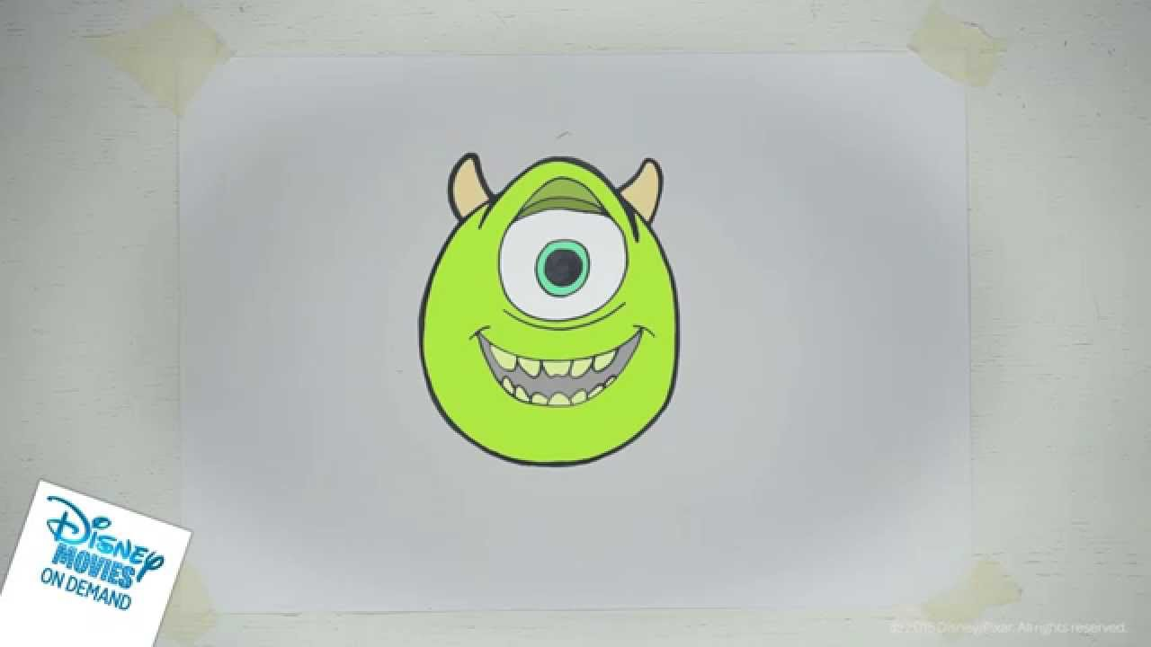 Leer Mike Van Monsters En Co Tekenen Youtube