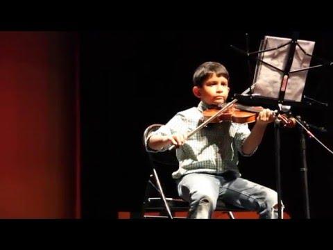 Parsippany Troy Hills Elementary School Talent Show _ Feb 2016 _ Aarjun Violin performance (grade 3)