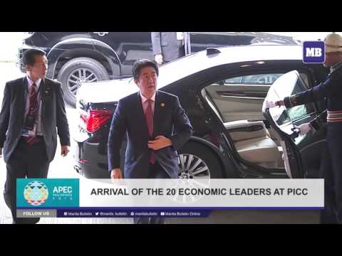 Arrival of the APEC Leaders for traditional family photo