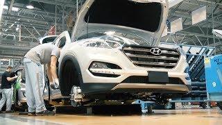 Так Собирают Ваш Новый Hyundai Tucson.Assembling A Car Hyundai